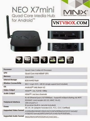 ANDROID TV BOX Minix neo X7 mini verII